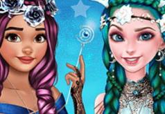 Игра Эльза и Моана: Фантастические Прически