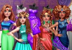 Игра для девочек Мейкер наряда для индианки