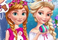 Игра Анна и Эльза: Пасхальное Веселье