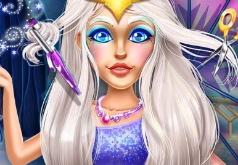 Игра Прическа Снежной Королевы
