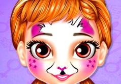 Игра Маленькая Принцесса Анна: Живопись на Лице