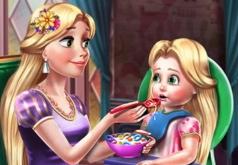 Игра Принцесса Голди Кормит Малыша