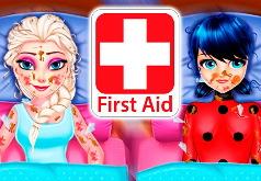 Игра Эльза и Леди Баг в Больнице