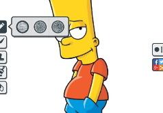 Игра Раскраска Брата: Симпсоны