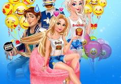 Принцессы: Праздник в Стиле Эмоджи