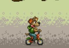 игра кот и собака на велосипедах