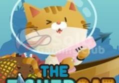 котик игры рыбы