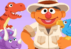 Игра Улица Сезам: Уход за Динозаврами Эрни
