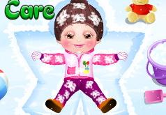 игры уход за малышами зимой