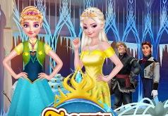 Игра Современные Эльза и Анна часть 2