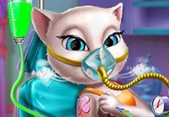 Игра Кошка Анжела в больнице