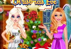 Игра Барби и Эльза: приготовления к Рождеству