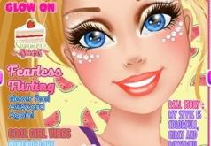 Игра Барби: макияж для обложки журнала