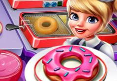 игра кафе готовим пончики