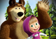 Игра 4 пазла Маша и медведь