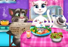 Игра Том и Анжела: веселый ужин
