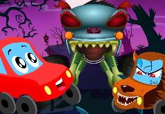 Игра Пазлы: Хэллоуин в сказочной стране машинок