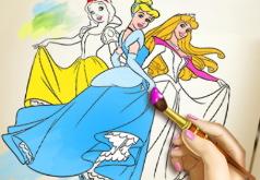 Игра Принцессы Диснея: книга раскрасок
