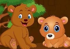 Игра Детские пазлы с медвежатами