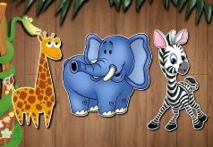 Игра Развивающие пазлы с животными для малышей