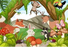 Игра Детские пазлы: лес