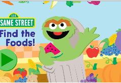 Игра Улица Сезам: поиск продуктов