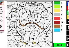 игры для девочек математическая раскраска
