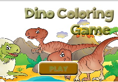 Игры Разрисуй динозавров