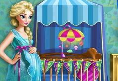 Игра Беременная Эльза готовится к материнству