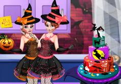 игры шакита готовит пирог к хэллоуину
