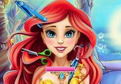 Игры Парикмахерская принцессы Ариель часть 2