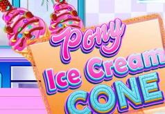 Игра Готовим мороженое в рожке