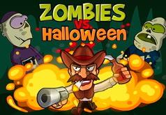 Игра Сражения с зомби на Хэллоуин