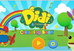 Игра Диди и друзья: развивающие раскраски