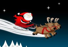Игра Санта-гонщик: раскраски