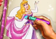 Игра Раскрась принцессу