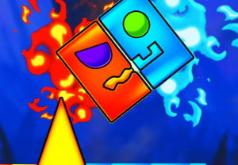Игра Геометрия Даш: Огонь и Вода