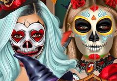 Игра Фейс-арт на Хэллоуин для знаменитостей