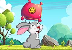 Игра Стрельба с кроликом по пузырям