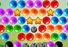 Игра Стрельба по пузырям и звездам
