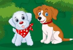 Игра Пазлы щенки