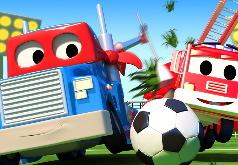 Игра Карл супер грузовик: сборник пазлов