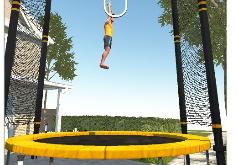 игры мальчик прыгает на батуте