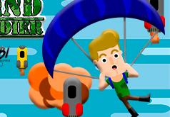 игры парашютист летит по небу