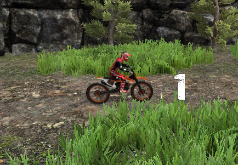 Игры Гонка на кроссовом мотоцикле часть 2