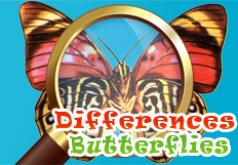 Игры Найди отличия бабочки