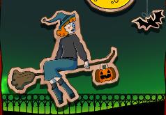ведьмочка летящая на метле игра