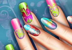 Игры Цветной дизайн ногтей