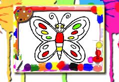 бабочка раскраска флеш игра