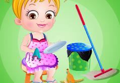Игры Закончи уборку на кухне